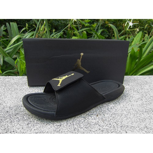Cheap Jordan Hydro 6 Sandals Black Gold