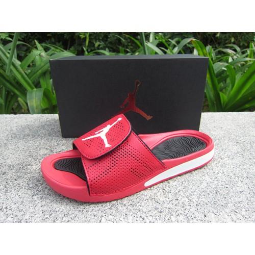 f18cb0272024 -56 % Cheap Jordan Sandals - 2018 Women Jordan Hydro 5 Retro Sandals Red  White Black