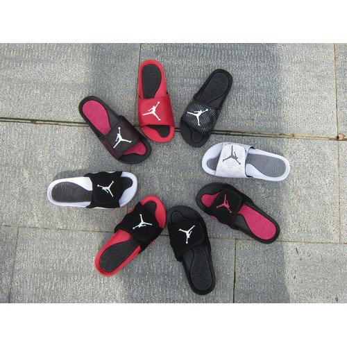 543ea74a9aea ... Cheap Jordan Sandals - 2018 Women Jordan Hydro 5 Retro Sandals Red  White Black