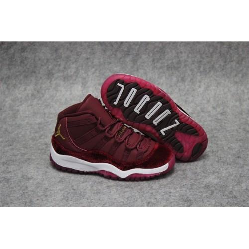 discount 2018 Air Jordan 11 Kids Red Velvet Sale - from Jordan Shoes ... c36882b99