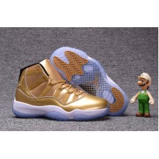 Air Jordan 11 Retro - 2017 Air Jordan 11 Retro All Gold Men Basketball Shoes On Sale