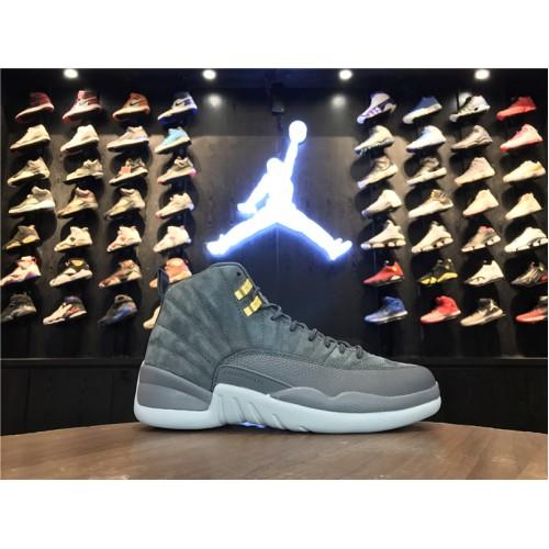 48f88fadda72 -52 % Air Jordan 12 Retro - 2017 Air Jordan 12 Dark Grey-Wolf Grey Men Shoes