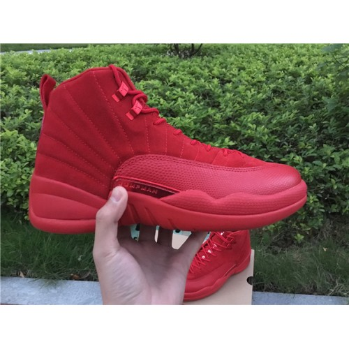 huge discount 58d80 9d070 cheap 2017 Air Jordan 12 Red Suede Christmas Red Mens ...