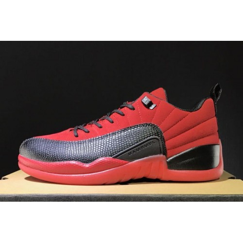 size 40 cebf0 c9646 Hot sell 2017 Air Jordan 12s Retro Low Raging Bull Red Suede ...
